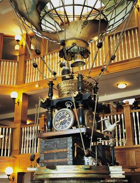 Interior clock feature