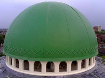 GRP Dome for Mosque with lower GRP wall and upstand