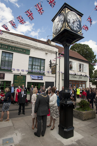 Duchess of Cornwall unveiling clock