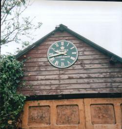 Large Green Roman Clock for Garage