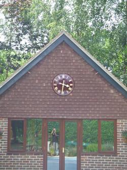 Maroon Traditional Clock