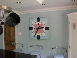 Art Deco clock in Kitchen