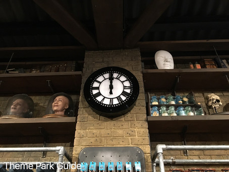 Backwards clock Alton Towers