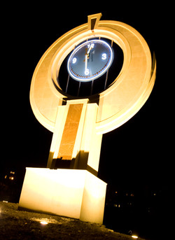 Clock feature at night