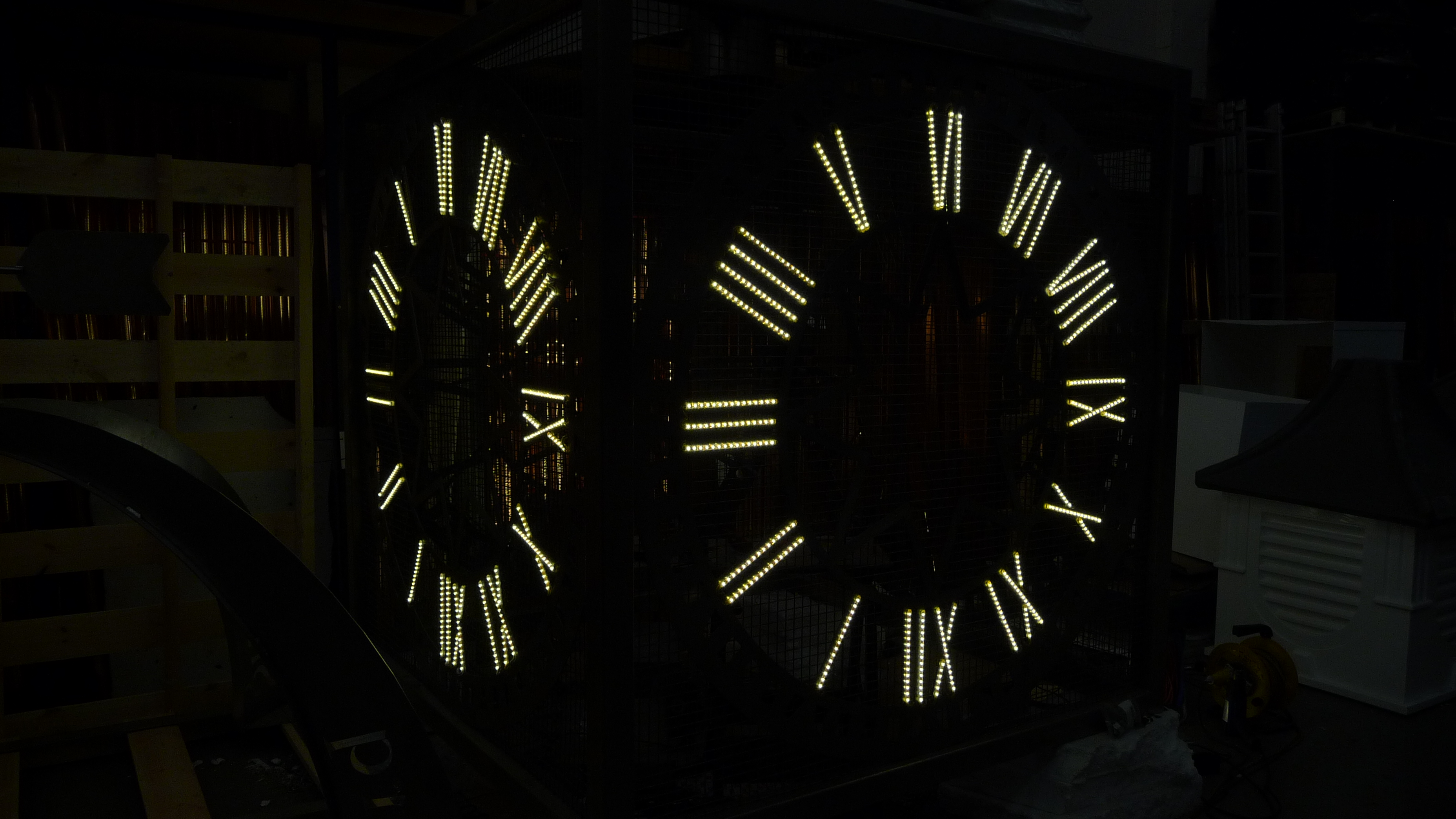LED lights on Roman numerals