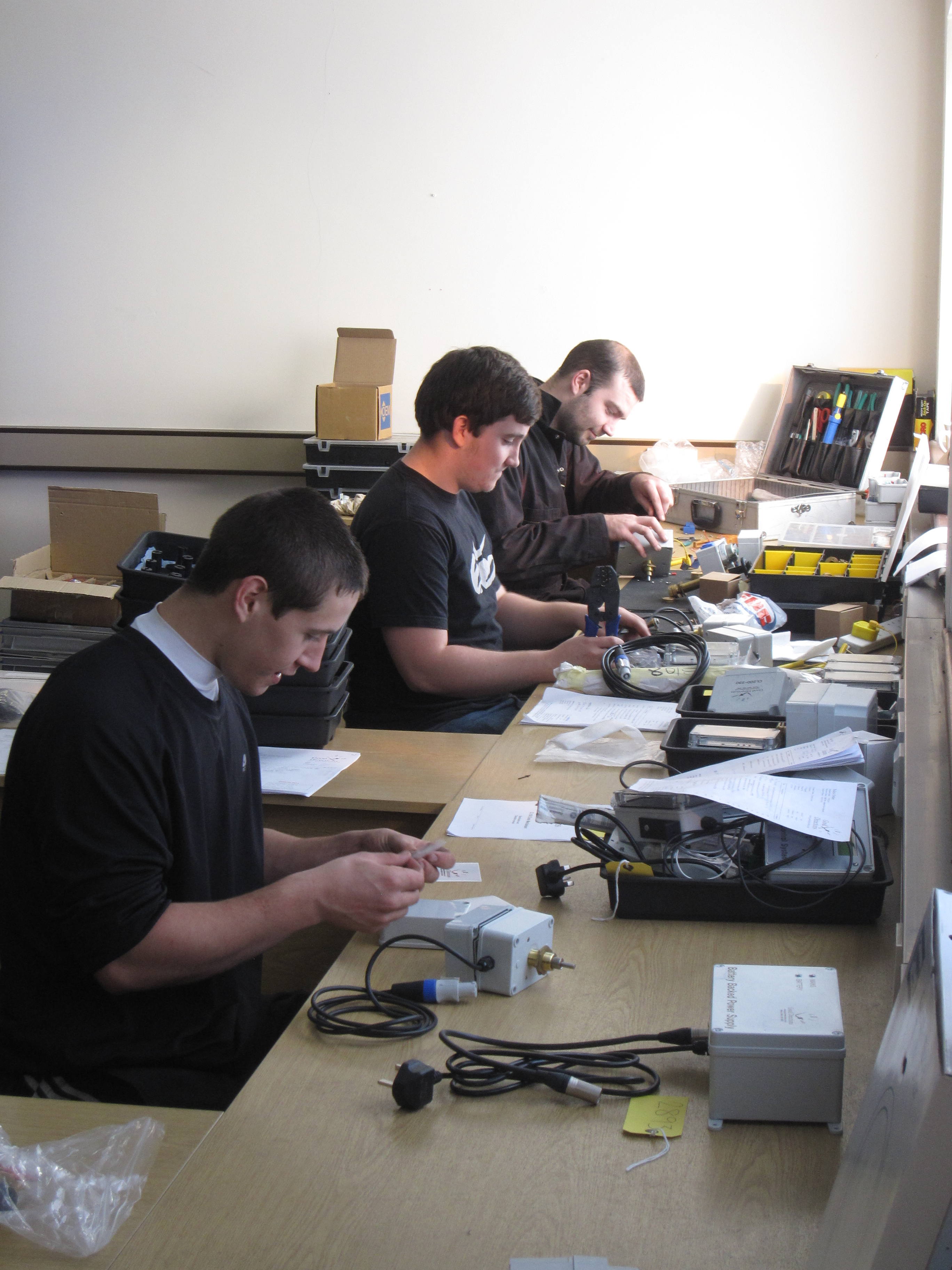 Assembly of clock components