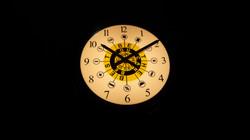 Bespoke designed clock illuminated