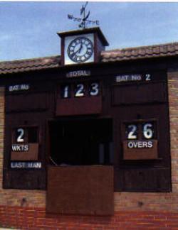 Cricket scoreboard clocks