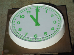 White and green bezel clock