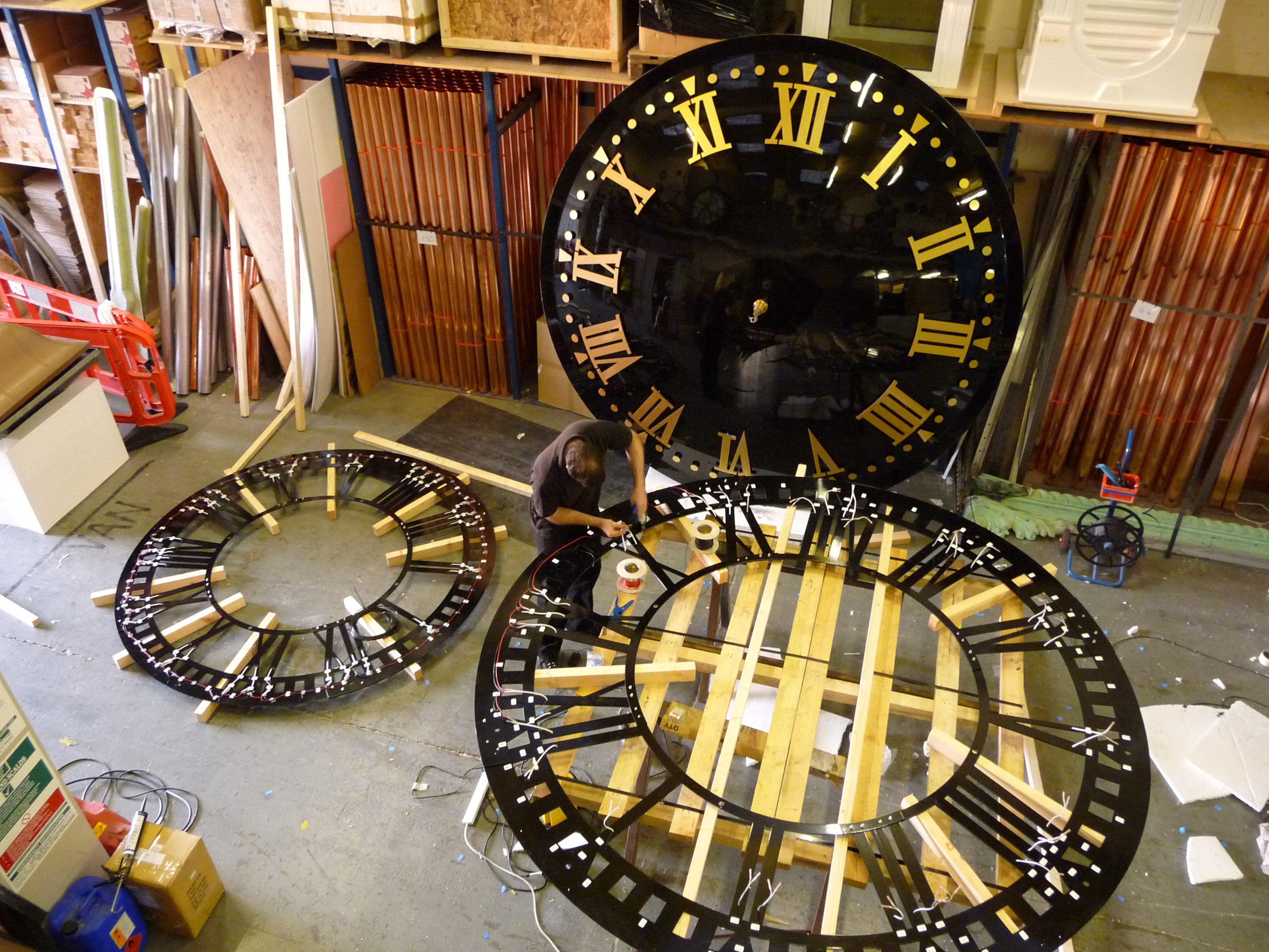 Large exterior clocks