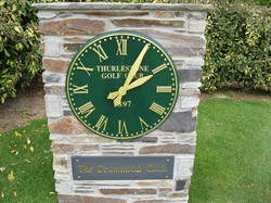 Large Outdoor Clock for Golf Club