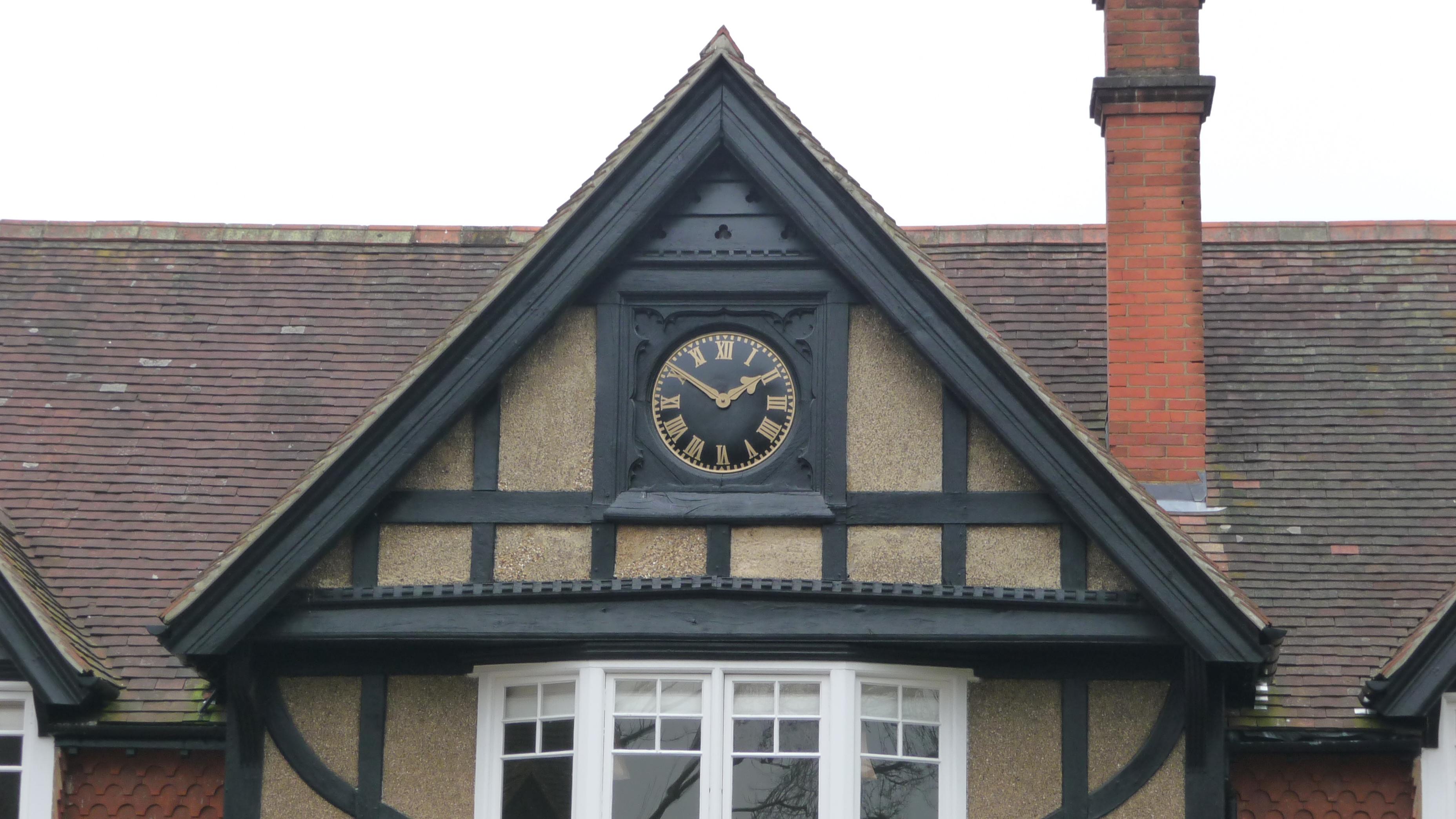 Clock in gable