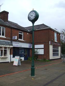 Village centre pillar clock