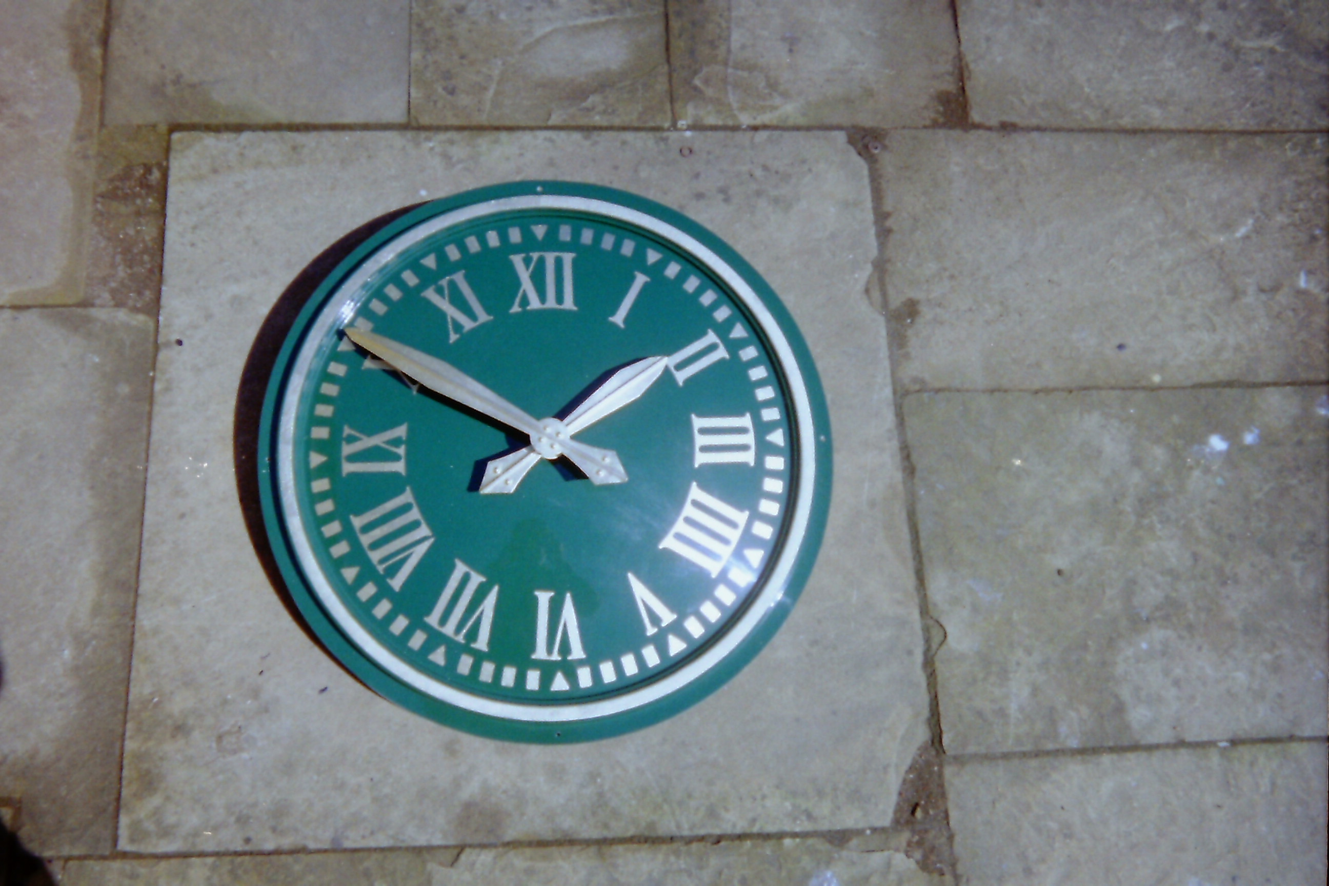 Large Exterior Clock in green