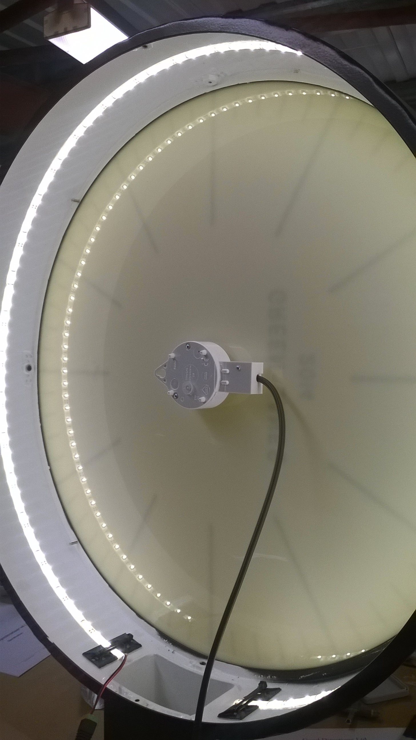 LED illuminated drum clock