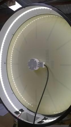 LED illuminated drum clock