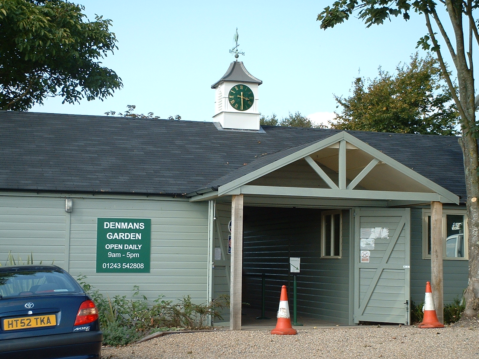 Clock towers on garden centres