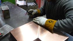 Bespoke flasing being welded