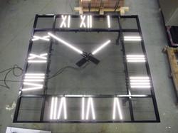 Illuminated square clock