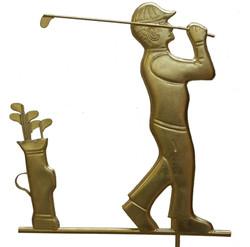 Weathervane - Fully gilded Golfer