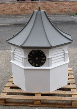 Octagonal clock tower