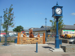 Clock matching street furniture