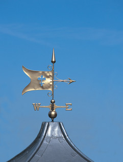 Fully Gilded Banner Weathervane