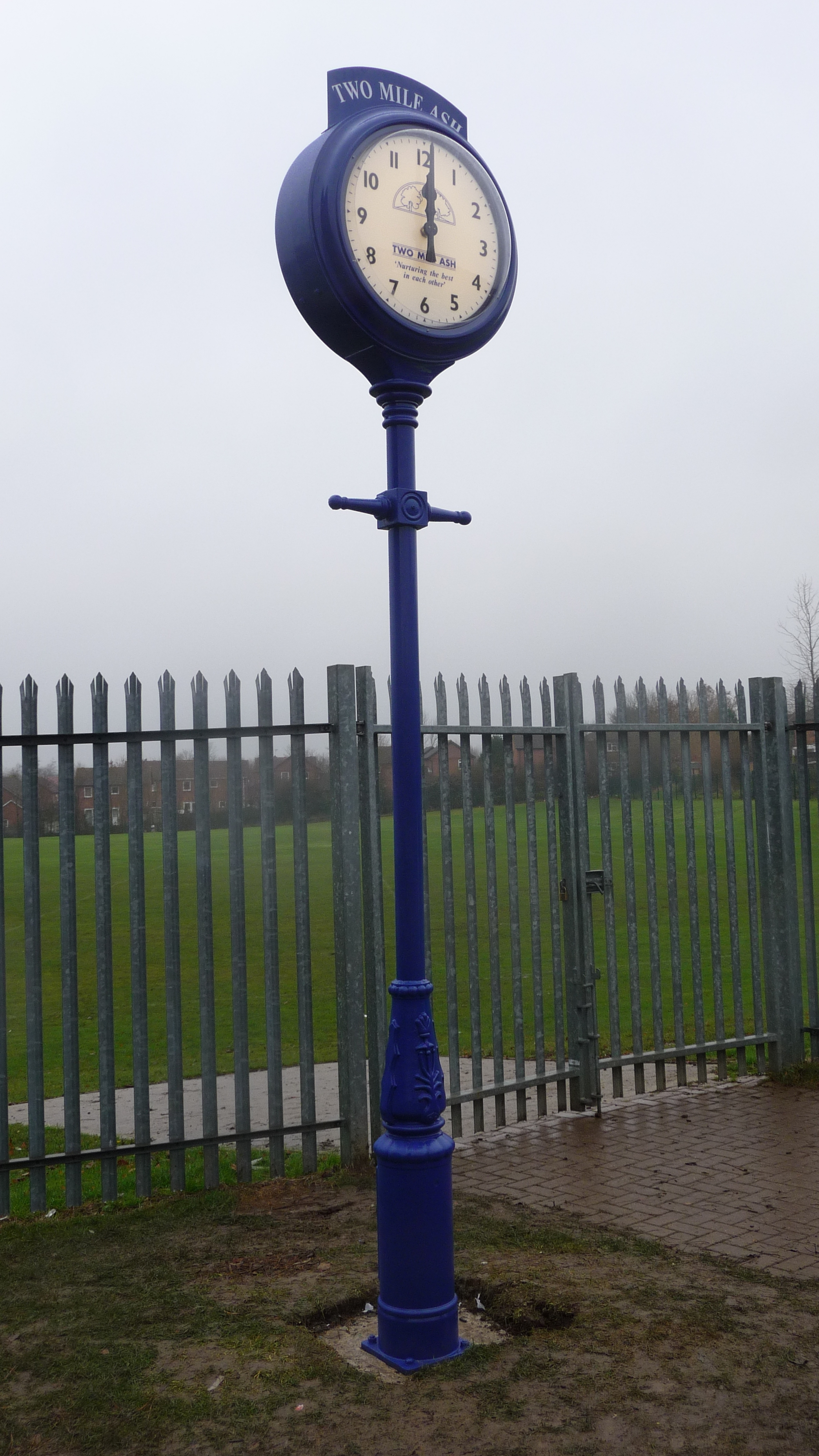 Pillar clock for school playground