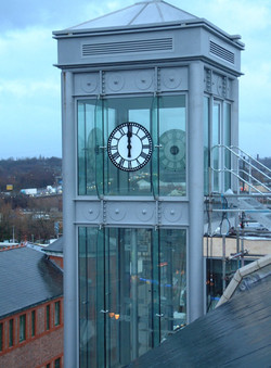 Large exterior public clock