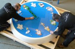 Bespoke clock for children's ward