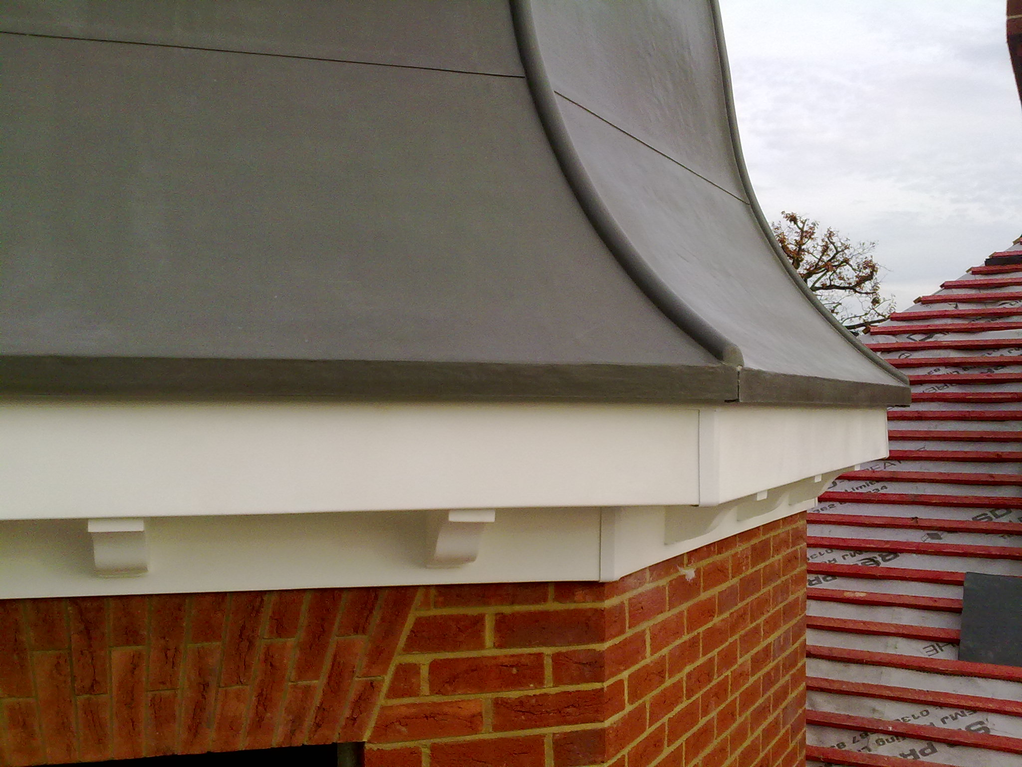 GRP lead effect roof