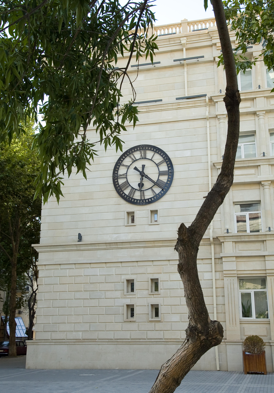 Large clock on a school