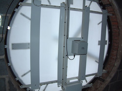 Internal view of large clock