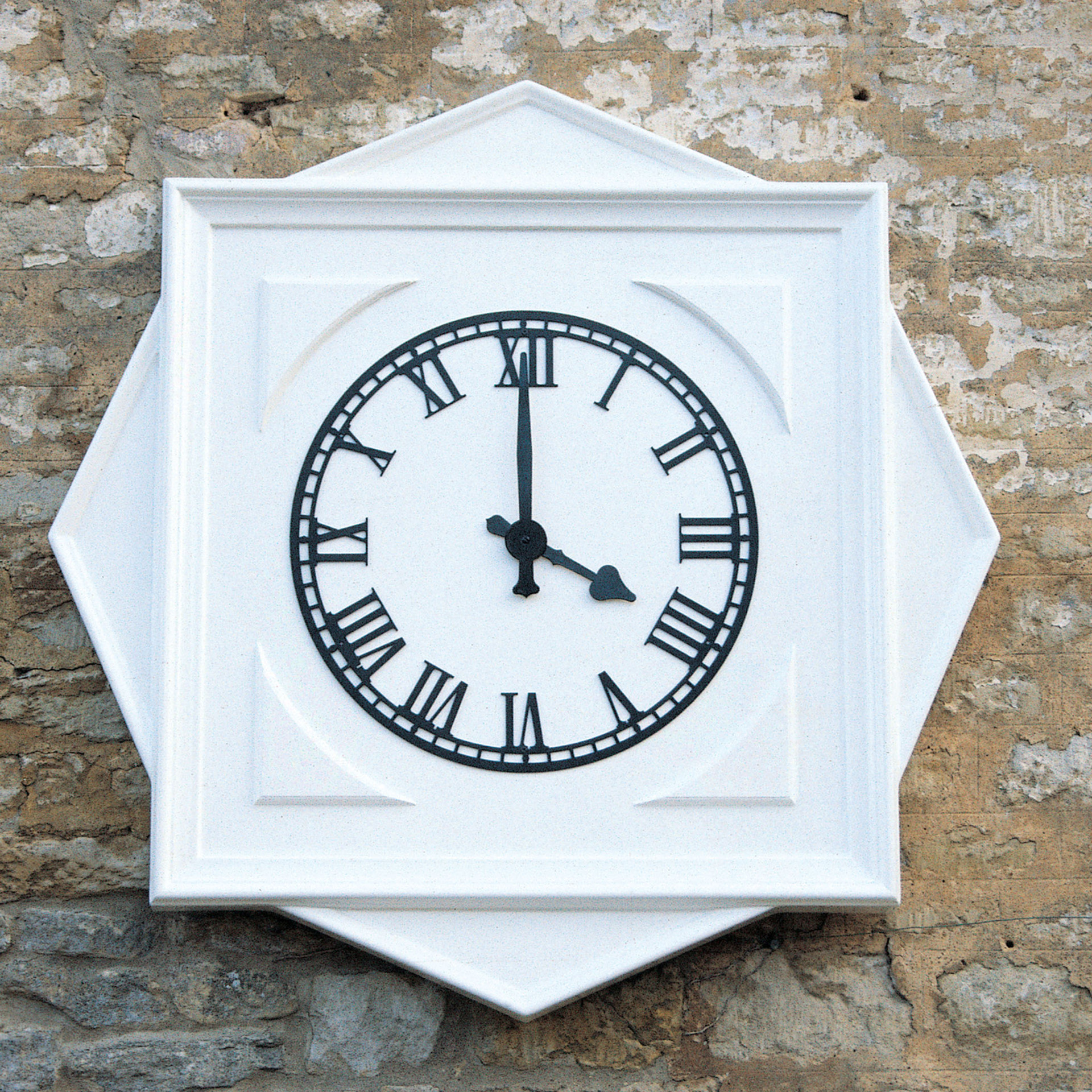 Star shaped plinth with clock