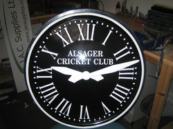 Large Outdoor Clock for Cricket Club