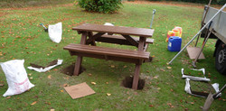 Installation of picnic table