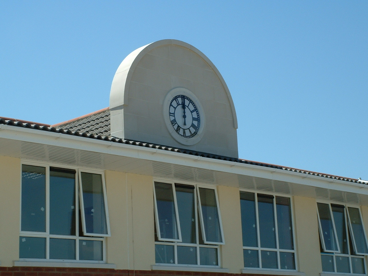 Clock on School