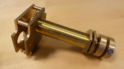 Brass clock mechanism