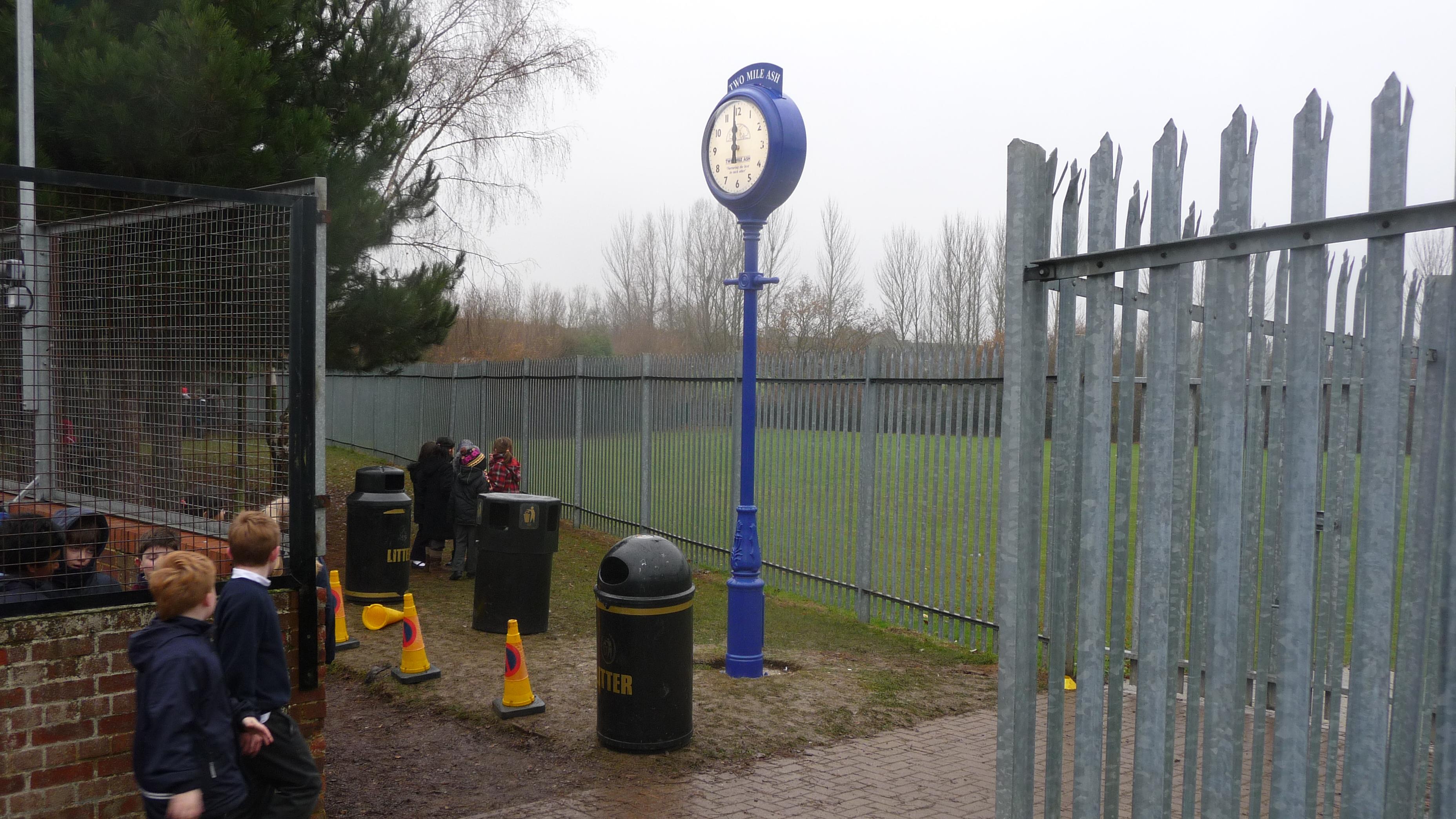Installing a school pillar clock