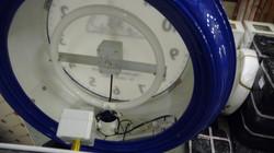 Inside a pillar clock