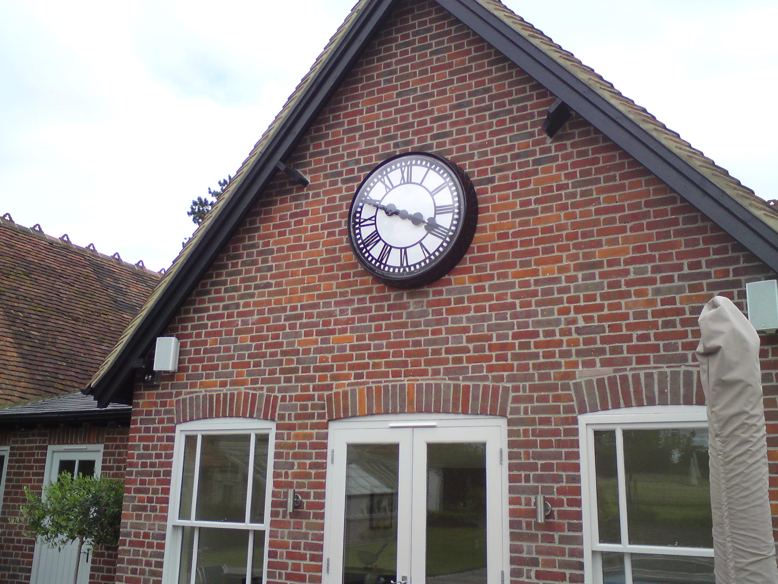 Large garden exterior clock