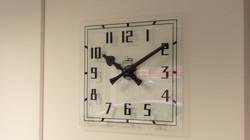 Screen printed glass clock