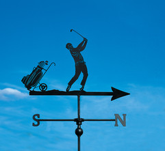 Golfer and Caddy Weathervane