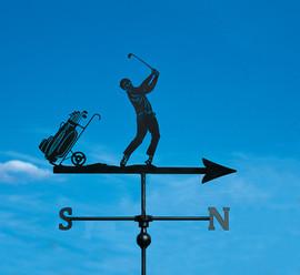 Golfer and Caddy Weathervane