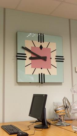 Art Deco clock in office