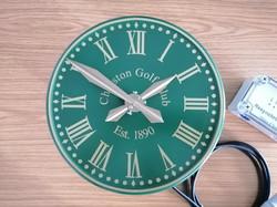 Green Exterior clock