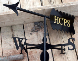 Weathervane - Arrow with sign writing