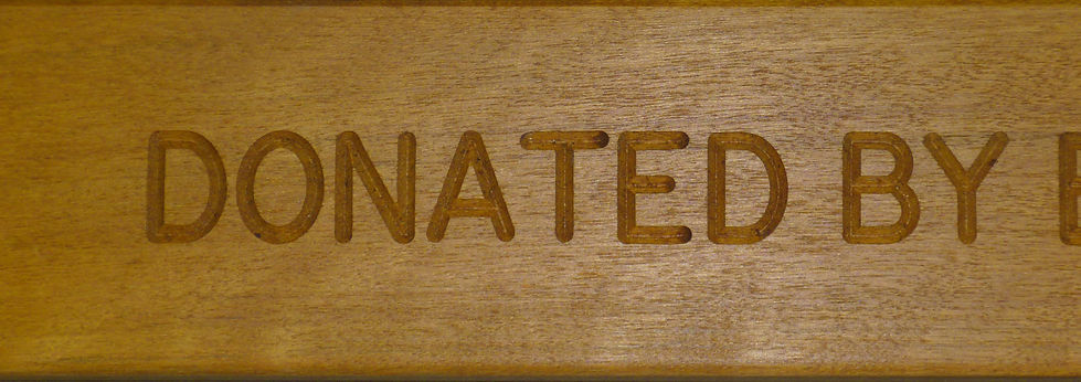 Engraved wooden slat