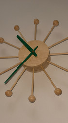 Machined wooden clock