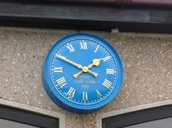 Sign written bezel clock